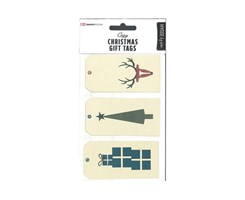Modern Christmas Gift Tags 9pcs