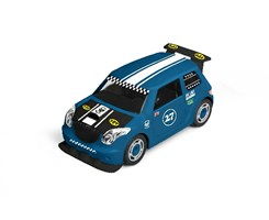 1:20 JUNIOR KIT Pull Back Rallye Car, blue