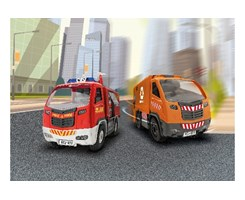 1/20 JK RC Fire Truck + Garbage Truck (2in1)