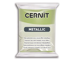 Cernit metallic 051 56g green gold